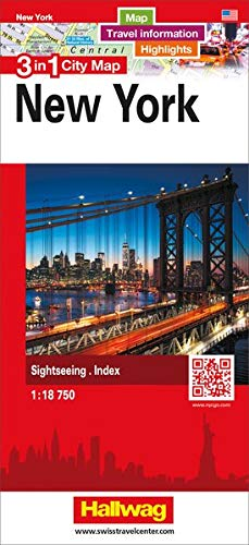 New York 3 in 1 City Map: Map, Travel information, Highlights, Sightseeing, Index (City Map 3 in 1) -