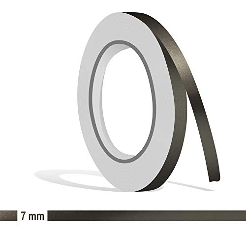 Siviwonder Zierstreifen anthrazit grau metallic Glanz in 7 mm Breite und 10 m Länge Folie Aufkleber für Auto Boot Jetski Modellbau Klebeband Dekorstreifen dunkelgrau Silber