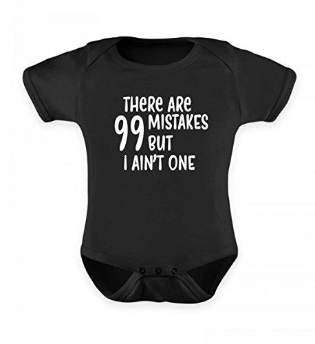 Hochwertiges Baby Body - T-shirt99 Mistakes but I Ain't One Lustiges Babybody Strampler Geburt Geschenk Schwarz