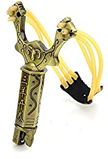 SHOPEE BRANDED NO.2 W/Compass Metal Slingshot Shot Brace Catapult With Rubber Band For Outdoor Hunting Shooting Sports Entertainment