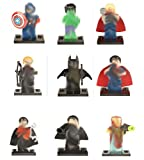 Modbrix 9 STK. Superhelden Fanfiction Minifiguren Super Heroes Figuren