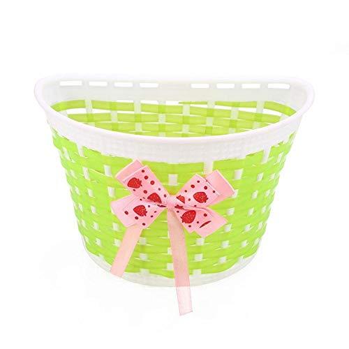 ZHIPENG Fahrradkorb, Abnehmbarer Und Verstellbarer Aufhängekorb Aus ABS-Material Für Kinder Im Freien - Fahrradzubehör,Grün -