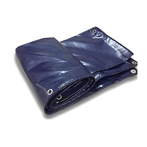 YINUO Super verschleißfester PVC-Messer Kratztuch Wasserdichter Sonnenschutz Regendichtstoff Oxford Tuch Große Abdeckplane Plane Dunkelblau (530 g/Quadratmeter, Dicke: 0,52 mm) (Size : 3x4m)