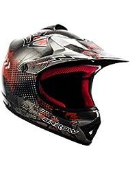 ARROW HELMETS AKC-49 Titan Moto-Cross-Helm Cross-Helm Kinder-Cross-Helm Helmet Sport Junior Kids Quad Pocket-Bike Enduro MX Motorrad-Helm Cross-Bike Kinder-Helm, DOT zertifiziert, inkl. Stofftragetasche, Grau, L (57-58cm)