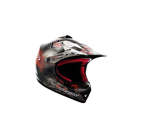 ARROW HELMETS AKC-49 Titan Moto-Cross-Helm Cross-Helm Kinder-Cross-Helm Helmet Sport Junior Kids Quad Pocket-Bike Enduro MX Motorrad-Helm Cross-Bike Kinder-Helm, DOT zertifiziert, inkl. Stofftragetasche, Grau, XS (51-52cm)