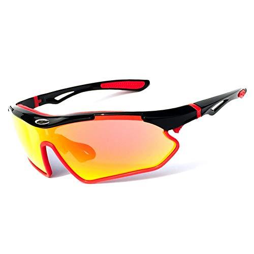erhuo Sport Sonnenbrillen Reiten Brille Fahrrad Mountainbike Golf Brille, rot