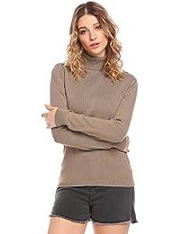 SOTEER Damen Winterpullover Mit Rollkragen Sweatshirt Oberteil Figurbetonte  Basic Camouflage S-XL Grün,… 1ecfbf0413