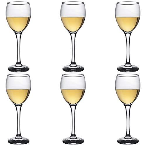 Argon Tableware Verres à vin Blanc - Coffret Cadeau de 6 Verres - 245 ML