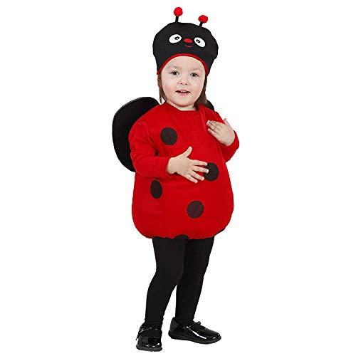 Kinderkostüm Marienkäfer mit Flügeln und Kopfbedeckung