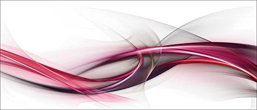 Artland Qualität I Glas Küchenrückwand ESG Spritzschutz Küche 120 x 51.4 cm Abstrakte Motive Muster Streifen Digitale Kunst Bordeauxrot F7NI Elegant Abstrakt Design für Deine genialen Ideen -