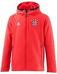 adidas FCB PRES JKT Y -Sweatshirt Ligne FC Bayern pour Garçon, Rouge