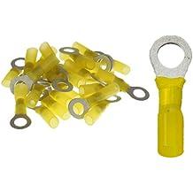 10 Ringkabelschuhe M8 8,4mm gelb mit Schrumpfschlauch 4,0 bis 6,0 mm/²