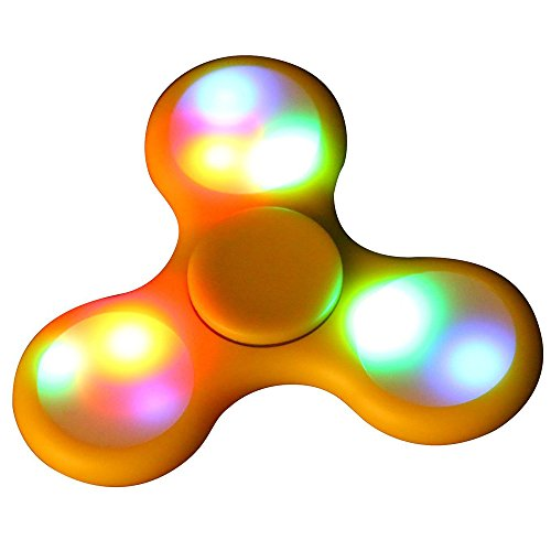 Fidget-Hand-Spinner-Rcool-Creative-LED-Light-Fidget-Hand-Spinner-Toy-Triangle-Fingertip-Gyro-Finger-Decompression-Gyro-Toy-EDC-Focus-ADHD-Autism-Gyro-Toy-Gift-Yellow