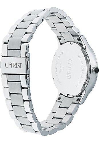 CHRIST times Damen-Armbanduhr Edelstahl Analog Quarz One Size, silber, silber -