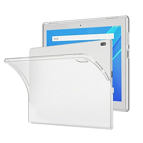 Gosento Hülle TPU Case für Lenovo Tab4 10, Soft Premium Flex Silikon Crystal Backcover Ultra Dünn Clear Schutzhülle Tablet Cover für Lenovo Tab 4 10 (Matt weiß)