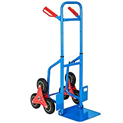 TecTake Profi Treppensackkarre Sackkarre Transportkarre Treppenkarre 6 Räder blau