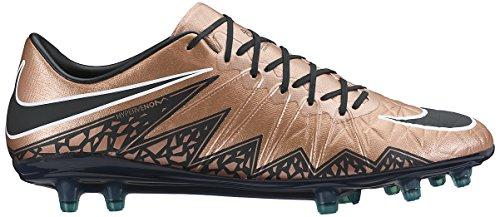 Nike Herren Hypervenom Phinish Fg Fußballschuhe, UK Braun / Schwarz / Grün / Weiß (MTLC brnz Rd / Blk-Grn GLW-weiß)