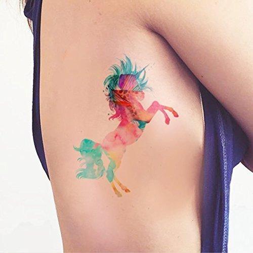 einhorn-aquarell-temporares-tattoo