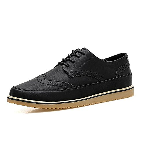 Mens British Style High Quality Soft Leather Oxfords Shoes Black 003