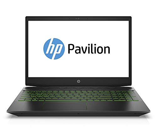 HP Pavilion Gaming 15-cx0660ng (15,6 Zoll / FHD IPS 60Hz) Gaming Notebook (Intel Core i5-8300H, 8GB DDR4 RAM, 512GB SSD, Nvidia GeForce GTX1050 4GB GDDR5, Windows 10) schwarz / grün