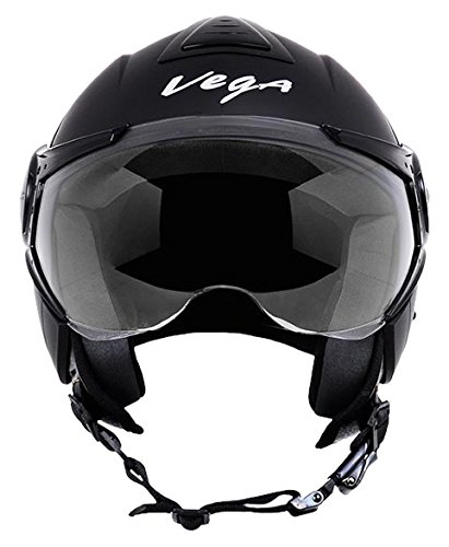 Vega Verve Open Face Helmet (Women's, Dull Black, S)
