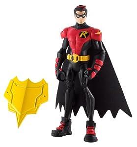 BATMAN - Figuras de acción, Pack Heroe Villano, Robin Armadura Rojo (Mattel X2307)