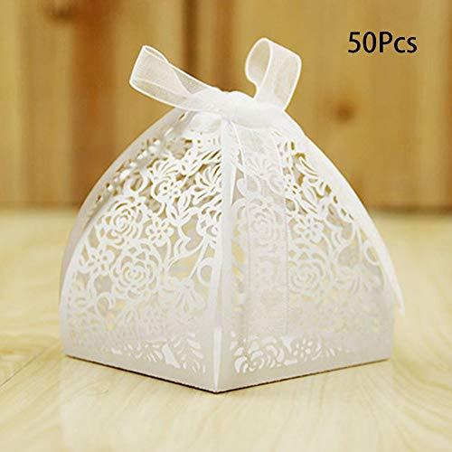 50stk Out Baum Candy Chocolate Box Weihnachten Party Geschenk Weiß - Weiß, Free Size ()