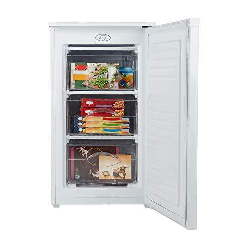 MEDION Gefrierschrank (60 Liter, 85cm hoch, 4 transparente Schubladen, Eiswürfel, Türanschlag wechselbar, MD37157) weiß