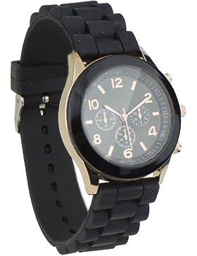 Unisex Uhr Silikon Jelly Damen Herren Quarz Sport Stilvoll Armbanduhr
