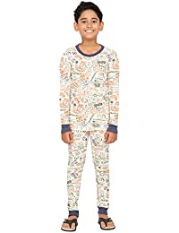 Nuteez Kids Stamps Pyjama Set for Kids