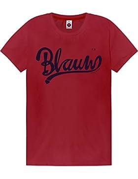 Scotch & Soda Classic AMS Blauw Artwork tee, Camiseta para Mujer