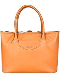 Viari Tan Leather Tote Bag