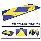 CCLIFE 240x120x5cm Weichbodenmatte Turnmatte Klappbar Gymnastikmatte