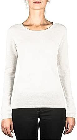 CASH-MERE.CH Pullover   Sweater   Maglione a Girocollo da Donna 100% Cachemire (XS-XXL)