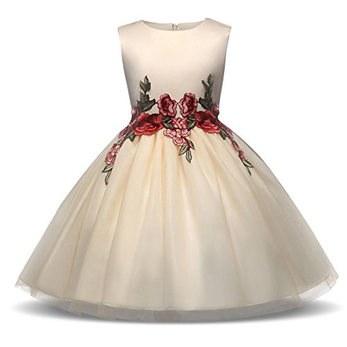 ffeei Vestido Formal De La Novia De Las Nuevas Muchachas De La Boda Vestido Formal De La Princesa De La Dama De Honor De Los Vestidos De Fiesta De Las Muchachas,PhotoColor-100cm