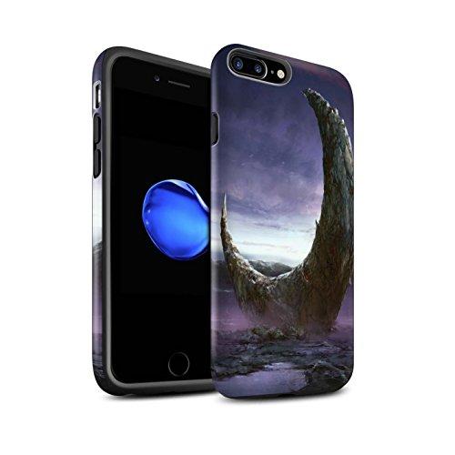 Offiziell Chris Cold Hülle / Matte Harten Stoßfest Case für Apple iPhone 7 Plus / Zerbrochenen Mond Muster / Fremden Welt Kosmos Kollektion Zerbrochenen Mond