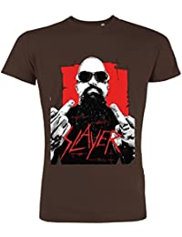 Pushertees - T-Shirt Mann Chocolat LTB-76 little bastard musicista rock metal bärtig e Tätowierungen Gitarren speed thrash