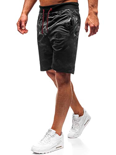 BOLF Herren Hose Kurzehose Sporthose Army Camo Military Street Style täglicher Stil J.Style NP26 Dunkelgrau L [7G7] -