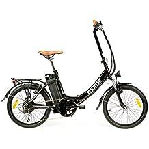 """Moma Bikes, Bicicletta Elettrica Pieghevole SHIMANO, ruota da 20"""", Alluminio, Battería Ion-Litio 36V 16Ah"""