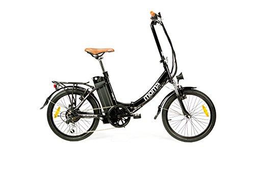 Moma Bikes, Bicicletta Elettrica Pieghevole SHIMANO, ruota da 20', Alluminio, Battería Ion-Litio 36V 16Ah