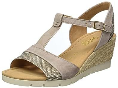 Gabor Shoes Comfort, Sandales Bout Ouvert Femme, Rose (Puder/ARG. Specc), 40.5 EU