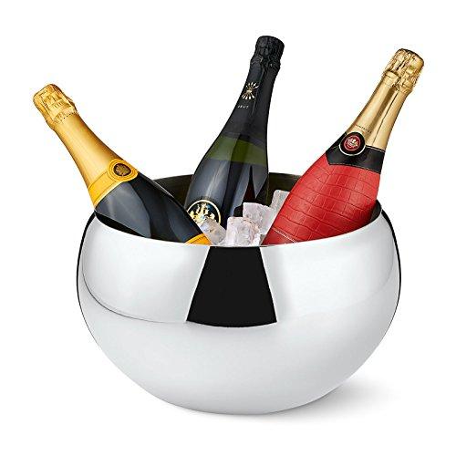Philippi Nizza Champagnerkühler, Edelstahl, Silber, 30 cm