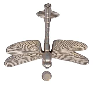 Adonai Hardware Dragon Fly Brass Door Knocker - Antique Brushed Nickel