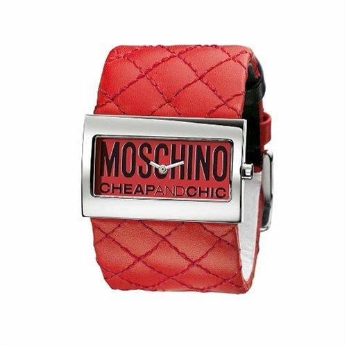 Moschino - MW0014 - Montre Femme - Quartz - Analogique - Bracelet Cuir Rouge
