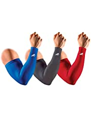 Redesign Compression Arm Sleeves Pair (Nylon) for Gym, Running, Cricket, Tennis, Basketball, Badminton & More