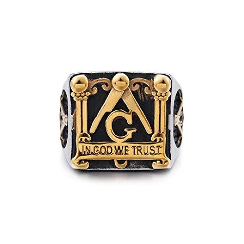 Mayanyan Herren 6mm Ring Vintage Gold Edelstahl Ring Ehering Herren Schmuck Geschenk