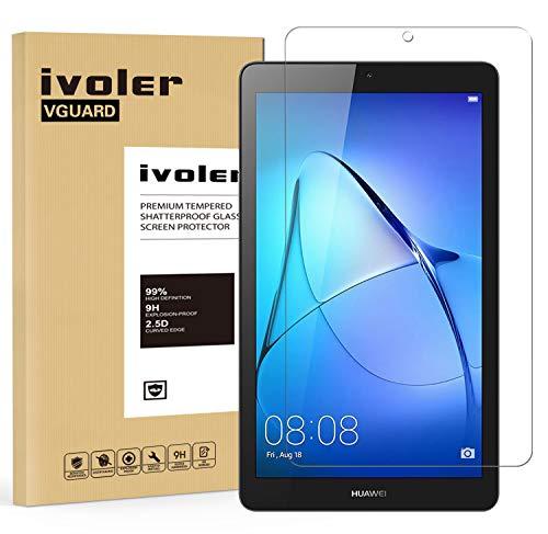 custodie tablet huawei 7 pollici iVoler Pellicola Vetro Temperato per Huawei MediaPad T3 7.0