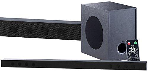 auvisio Aktiv Subwoofer: Soundbar mit Bluetooth, 3D-Sound-Effekt und externem Subwoofer, 180 W (Lautsprecher TV)