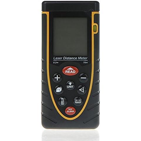 Artans (TM) 70m/70,1m precisione misurazione Handheld Trena Golf telemetro Misuratore di Distanza Laser Range Finder con Bubble Level Tape Measure - Golf Distanza Finder