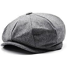 Hombres de estilo Newsboy 8 piezas de casquillo plano Herringbone lana Hat